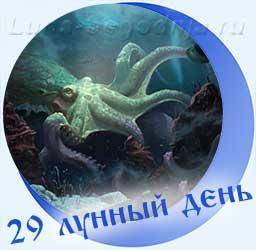 Символ 29-го лунного дня - Спрут