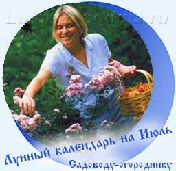 Лунный календарь огородника на июль, девушка с корзинкой
