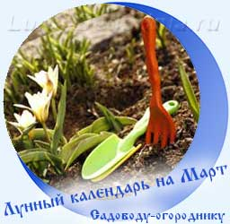 Лунный календарь огородника на Март, подснежник