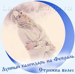 Лунный календарь стрижек на февраль - девушка и снег