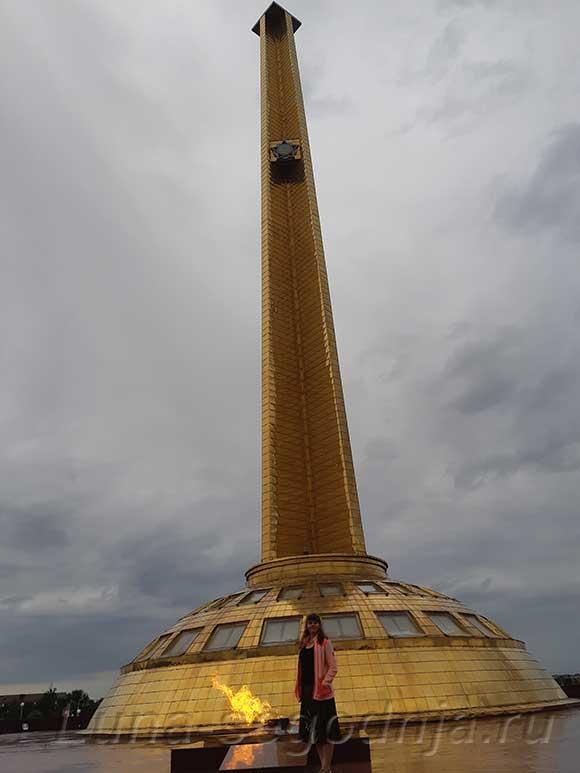 Стелла в городе Грозном.