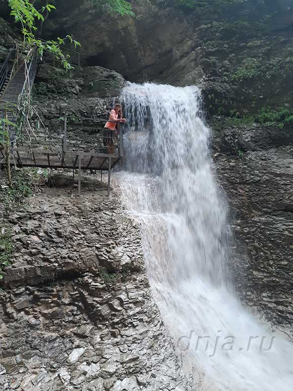 Нихолаевские водопады в Аргунском ущелье Чеченской Республике
