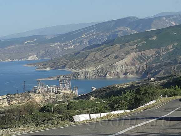 Огромное Чиркейское водохранилище, Дагестан
