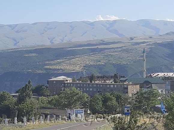 Дорога в горах Дагестана