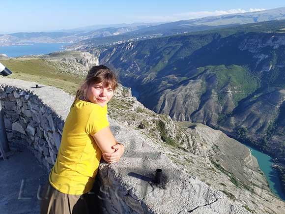 Вид на Сулацкий каньон сверху, Дагестан