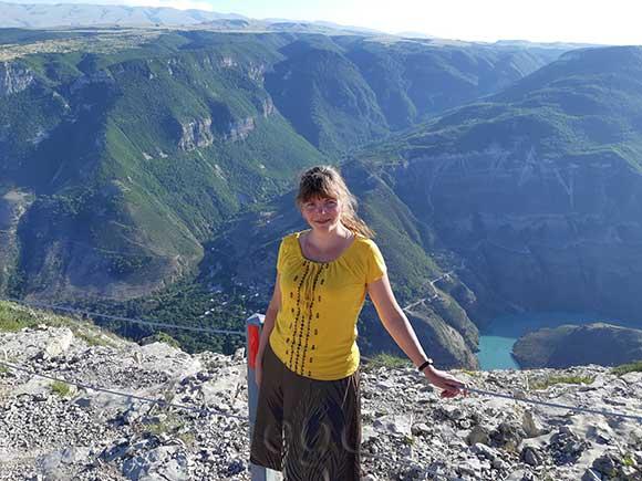 Сулакский каньон, вид сверху, Дагестанская Республика