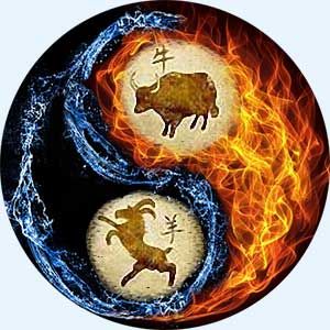 Мужчина-Бык и женщина-Коза (Овца)
