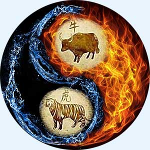 Мужчина-Бык и женщина-Тигр