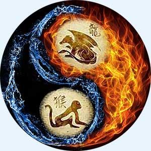 Мужчина-Дракон и женщина-Обезьяна