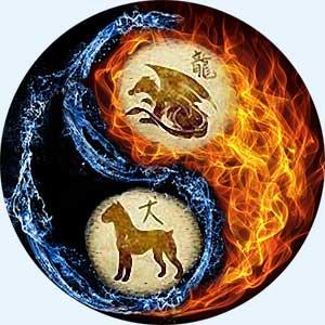 Мужчина-Дракон и женщина-Собака