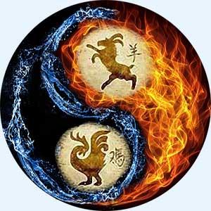 Мужчина-Коза (Овца) и женщина-Петух