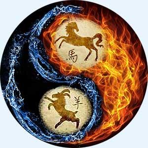Мужчина-Лошадь и женщина-Коза (Овца)