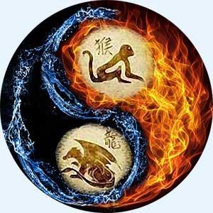 Мужчина-Обезьяна и женщина-Дракон