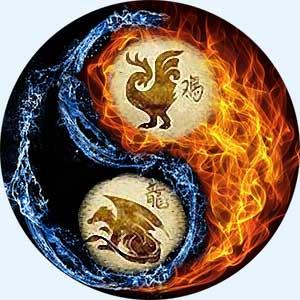 Мужчина-Петух и женщина-Дракон