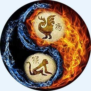 Мужчина-Петух и женщина-Обезьяна