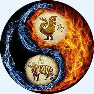 Мужчина-Петух и женщина-Тигр