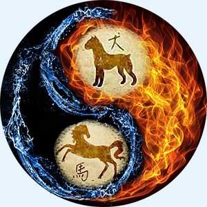 Мужчина-Собака и женщина-Лошадь