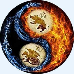 Мужчина-Свинья (Кабан) и женщина-Дракон