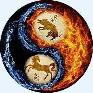 Мужчина-Свинья и женщина-Лошадь