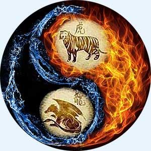 Мужчина-Тигр и женщина-Дракон