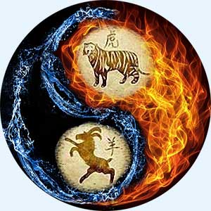 Мужчина-Тигр и женщина-Коза (Овца)