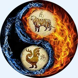 Мужчина-Тигр и женщина-Петух