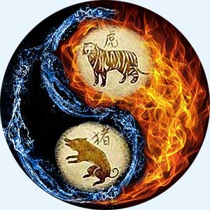 Мужчина-Тигр и женщина-Свинья