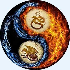 Мужчина-Змея и женщина-Дракон