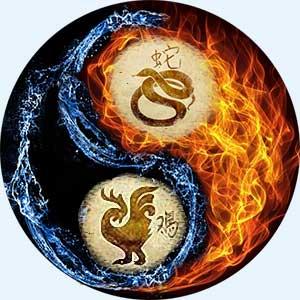 Мужчина-Змея и женщина-Петух