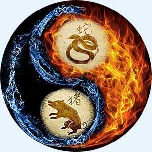 Мужчина-Змея и женщина-Свинья
